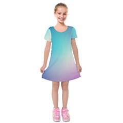 Background Blurry Template Pattern Kids  Short Sleeve Velvet Dress