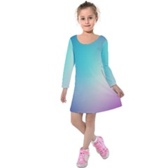 Background Blurry Template Pattern Kids  Long Sleeve Velvet Dress