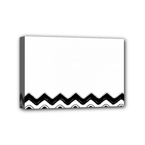 Chevrons Black Pattern Background Mini Canvas 6  x 4