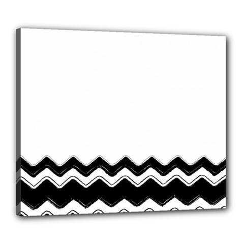 Chevrons Black Pattern Background Canvas 24  x 20