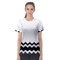 Chevrons Black Pattern Background Women s Sport Mesh Tee