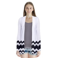 Chevrons Black Pattern Background Cardigans