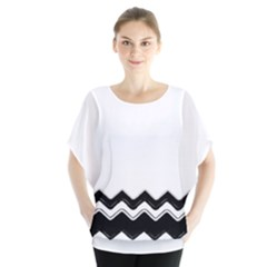 Chevrons Black Pattern Background Blouse