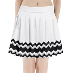 Chevrons Black Pattern Background Pleated Mini Skirt