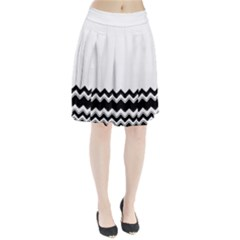 Chevrons Black Pattern Background Pleated Skirt