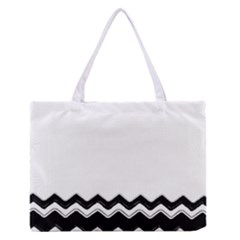 Chevrons Black Pattern Background Medium Zipper Tote Bag