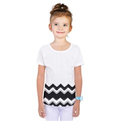Chevrons Black Pattern Background Kids  One Piece Tee