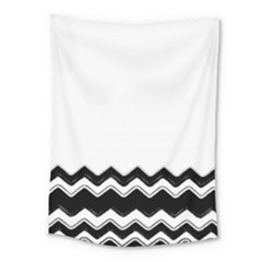 Chevrons Black Pattern Background Medium Tapestry