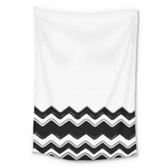 Chevrons Black Pattern Background Large Tapestry