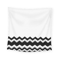 Chevrons Black Pattern Background Square Tapestry (small)