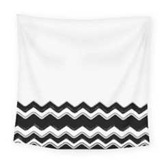 Chevrons Black Pattern Background Square Tapestry (large)