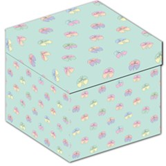 Butterfly Pastel Insect Green Storage Stool 12
