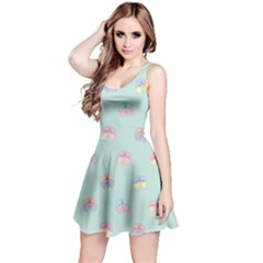 Butterfly Pastel Insect Green Reversible Sleeveless Dress