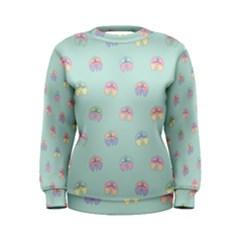 Butterfly Pastel Insect Green Women s Sweatshirt