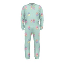 Butterfly Pastel Insect Green OnePiece Jumpsuit (Kids)