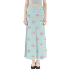 Butterfly Pastel Insect Green Maxi Skirts