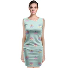 Butterfly Pastel Insect Green Classic Sleeveless Midi Dress