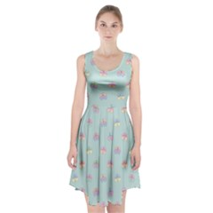 Butterfly Pastel Insect Green Racerback Midi Dress