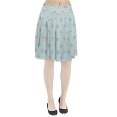 Butterfly Pastel Insect Green Pleated Skirt