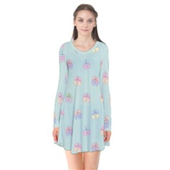 Butterfly Pastel Insect Green Flare Dress