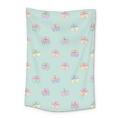 Butterfly Pastel Insect Green Small Tapestry