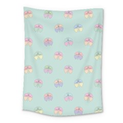 Butterfly Pastel Insect Green Medium Tapestry