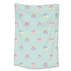 Butterfly Pastel Insect Green Large Tapestry