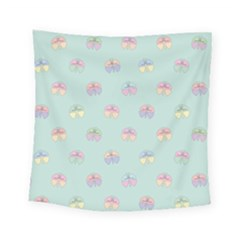Butterfly Pastel Insect Green Square Tapestry (small)