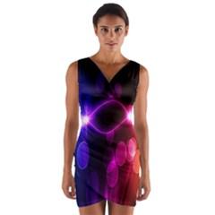 Circle Color Wrap Front Bodycon Dress