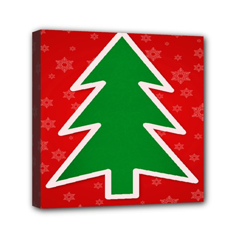 Christmas Tree Mini Canvas 6  x 6