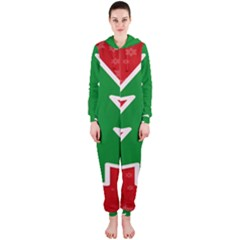 Christmas Tree Hooded Jumpsuit (Ladies)