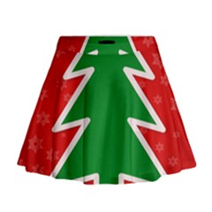 Christmas Tree Mini Flare Skirt