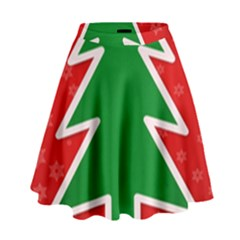 Christmas Tree High Waist Skirt