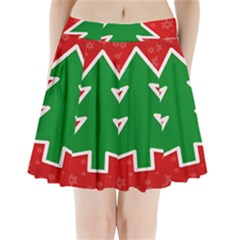 Christmas Tree Pleated Mini Skirt