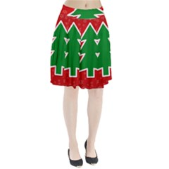 Christmas Tree Pleated Skirt