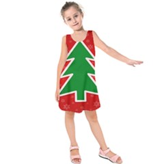 Christmas Tree Kids  Sleeveless Dress