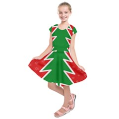 Christmas Tree Kids  Short Sleeve Dress