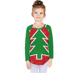 Christmas Tree Kids  Long Sleeve Tee