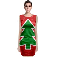 Christmas Tree Sleeveless Velvet Midi Dress