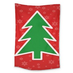 Christmas Tree Large Tapestry