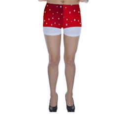 Christmas Background  Skinny Shorts
