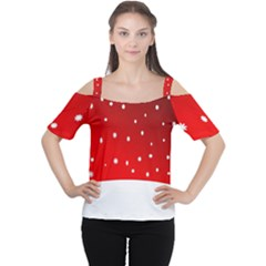 Christmas Background  Women s Cutout Shoulder Tee