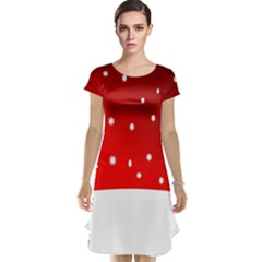 Christmas Background  Cap Sleeve Nightdress