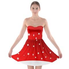 Christmas Background  Strapless Bra Top Dress