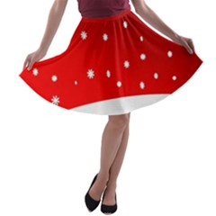 Christmas Background  A-line Skater Skirt