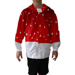 Christmas Background  Hooded Wind Breaker (Kids)