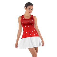 Christmas Background  Cotton Racerback Dress