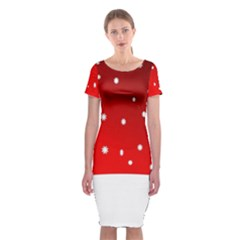 Christmas Background  Classic Short Sleeve Midi Dress