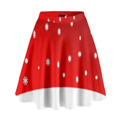 Christmas Background  High Waist Skirt
