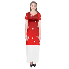 Christmas Background  Short Sleeve Maxi Dress